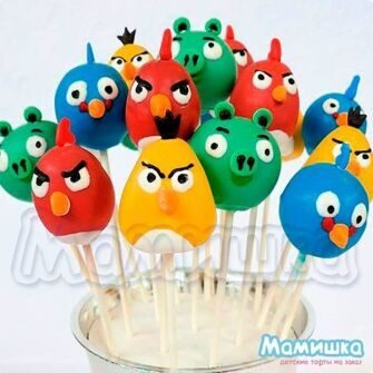 "Cake pops ""Angry Birds"" (M5324)"